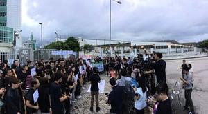 圖片新聞  壹傳媒員工默站反外判
