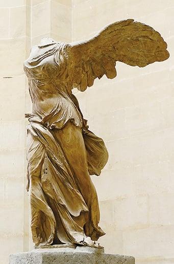 薩莫色雷斯的勝利女神像是古希臘文化Hellenistic時期的著名雕塑。(維基百科)