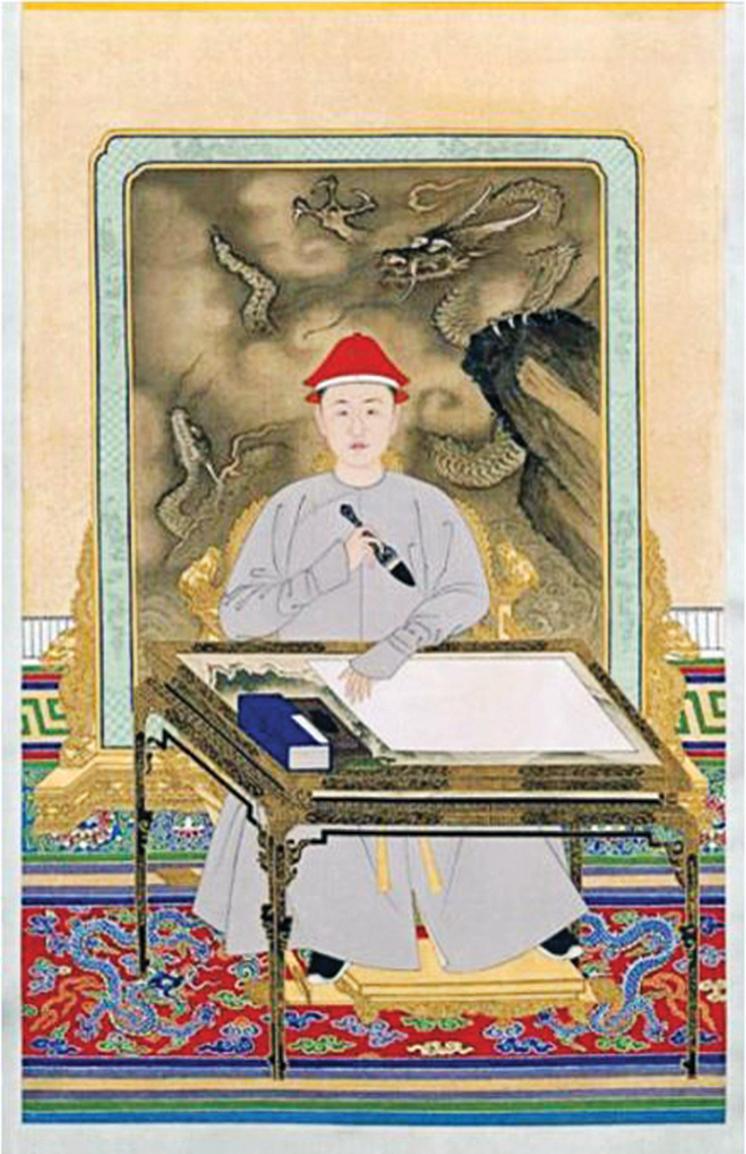 清代佚名宮廷畫家筆下的少年康熙皇帝。(公有領域)