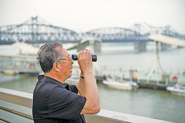 7月5日丹東中朝邊境的景象。北韓發射「洲際導彈」,到底對誰才是更大的威脅?(AFP)
