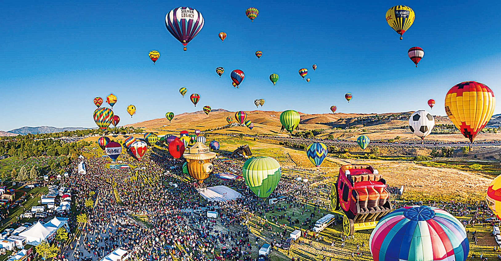雷諾每年都舉行全球最大的熱氣球比賽。(Abbi Agency)