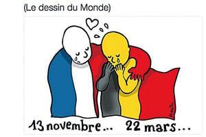 比利時恐襲 全球網民紛上社交媒體哀悼