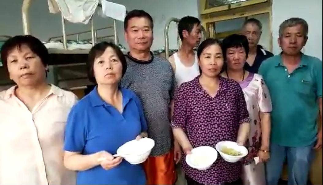 上海訪民在黑監獄裏訴說冤情。(視像擷圖)