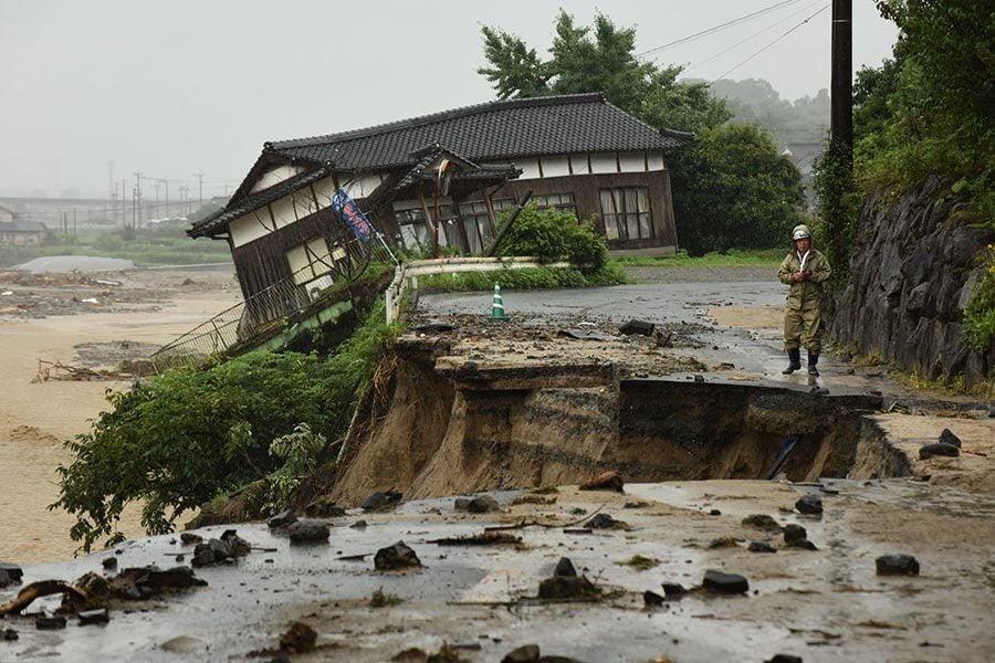 日本洪水死亡人數增至15人 至少14人失蹤