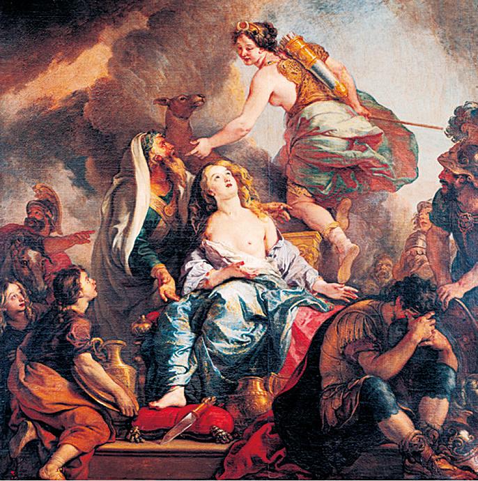 《伊菲吉妮婭的祭禮》(Le Sacrifice d'Iphigenie)。(presse.chateauversailles.fr)