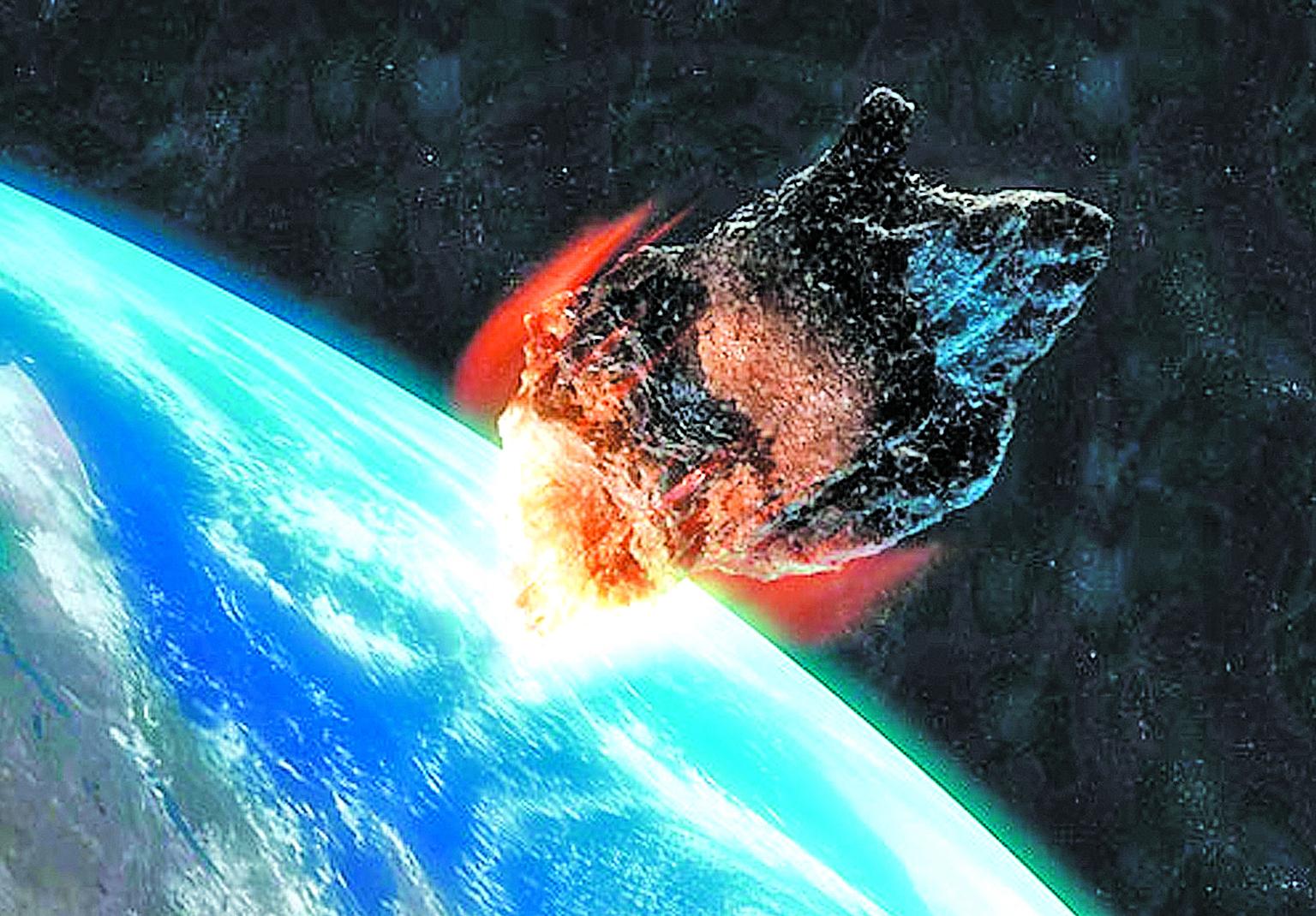 每天都有許多很小的天體進入地球大氣層,燃燒之後形成流星。如果大點的小行星撞擊,很可能就是人類文明的終結。(Getty Images)