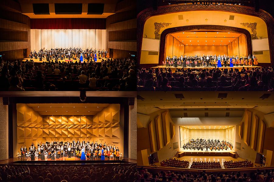 神韻交響樂團去年首次來台演岀,場場爆滿,謝幕時觀眾抱以熱烈掌聲持久不息。(大紀元合成圖)