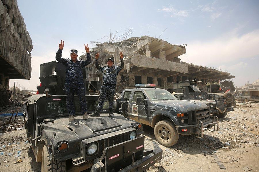 摩蘇爾曾是IS所佔領的最大城市。獲得美國領導的聯軍支持的伊拉克部隊自從去年10月17日起,開始發動收復摩蘇爾的戰鬥。(AHMAD AL-RUBAYE/AFP/Getty Images)