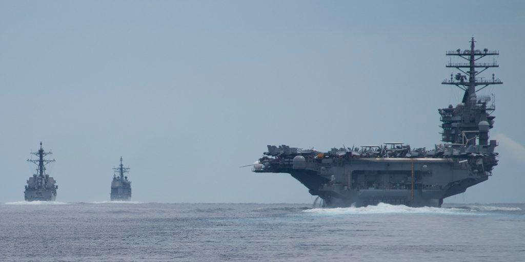 美國的「尼米茲」號核動力航母參與2017馬拉巴爾聯合軍演。(US NAVY)