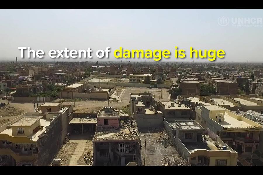 恐怖主義造成的創傷不僅僅是物質和經濟。(聯合國難民署視像擷圖)