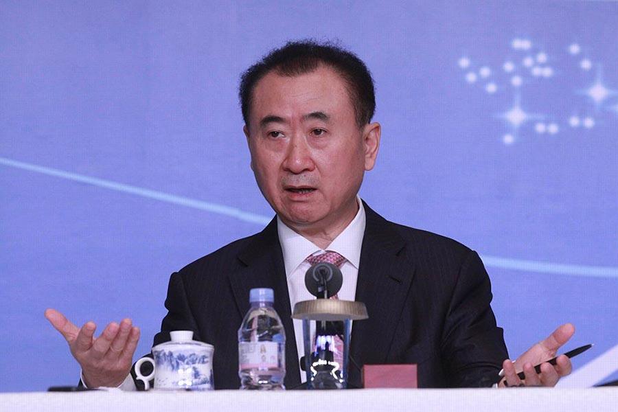 中國萬達董事長王健林投資15億美元扶貧引發猜測。(VCG via Getty Images)