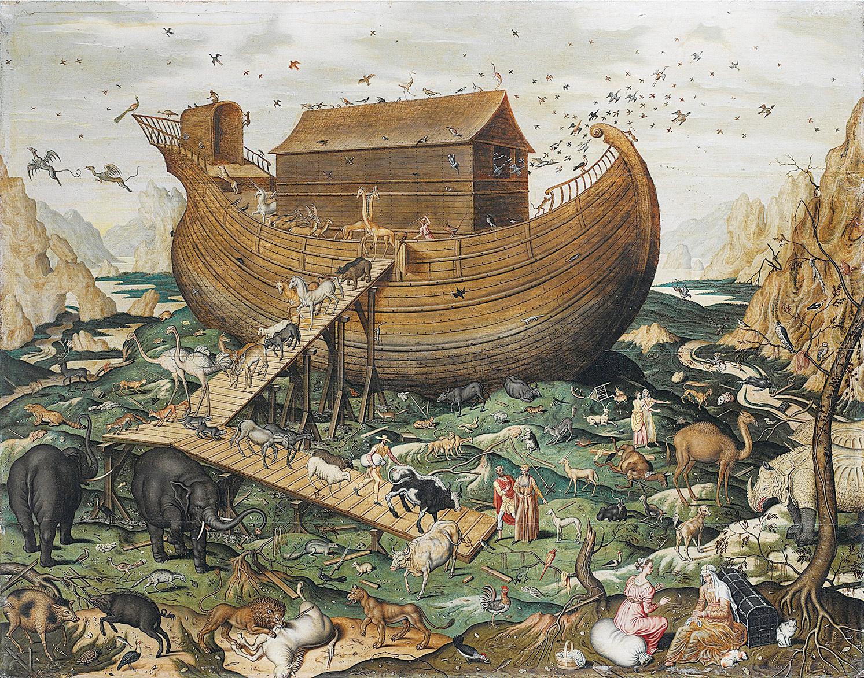《聖經》記載的諾亞方舟。(維基百科)