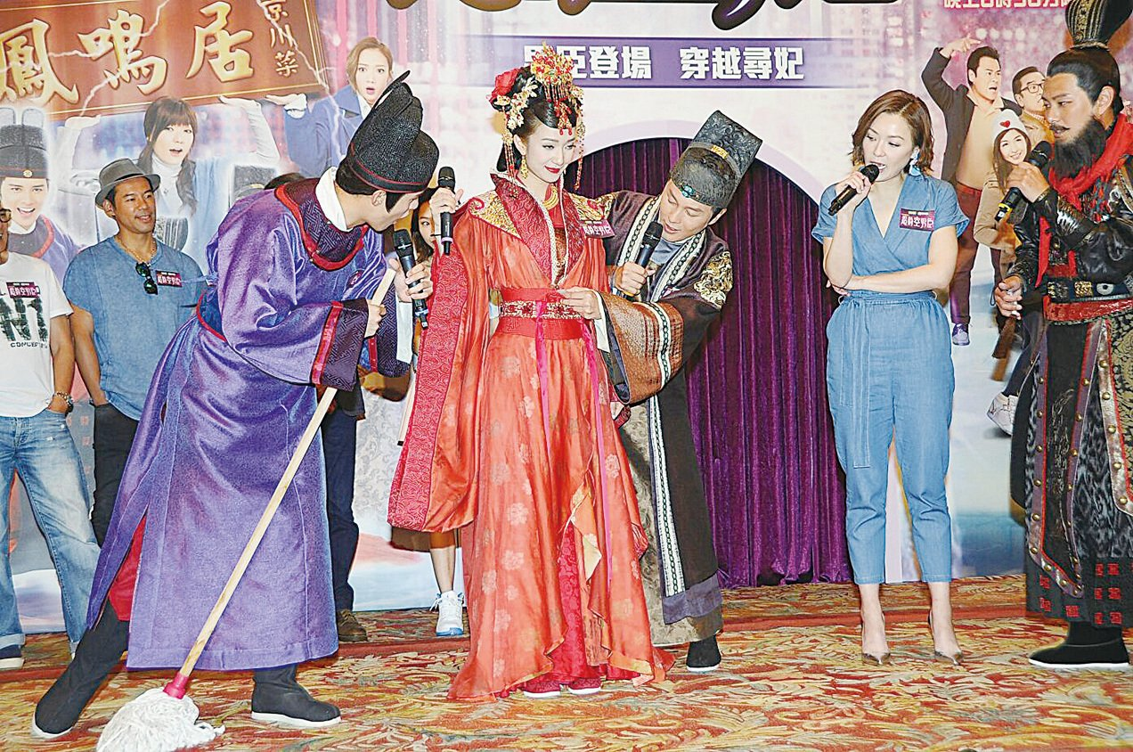 王君馨婚禮後馬上投入新劇宣傳活動。(網絡圖片)