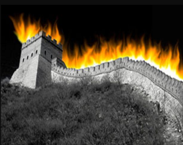 中國長城防火牆工程巨大。(網絡圖片/RFA)
