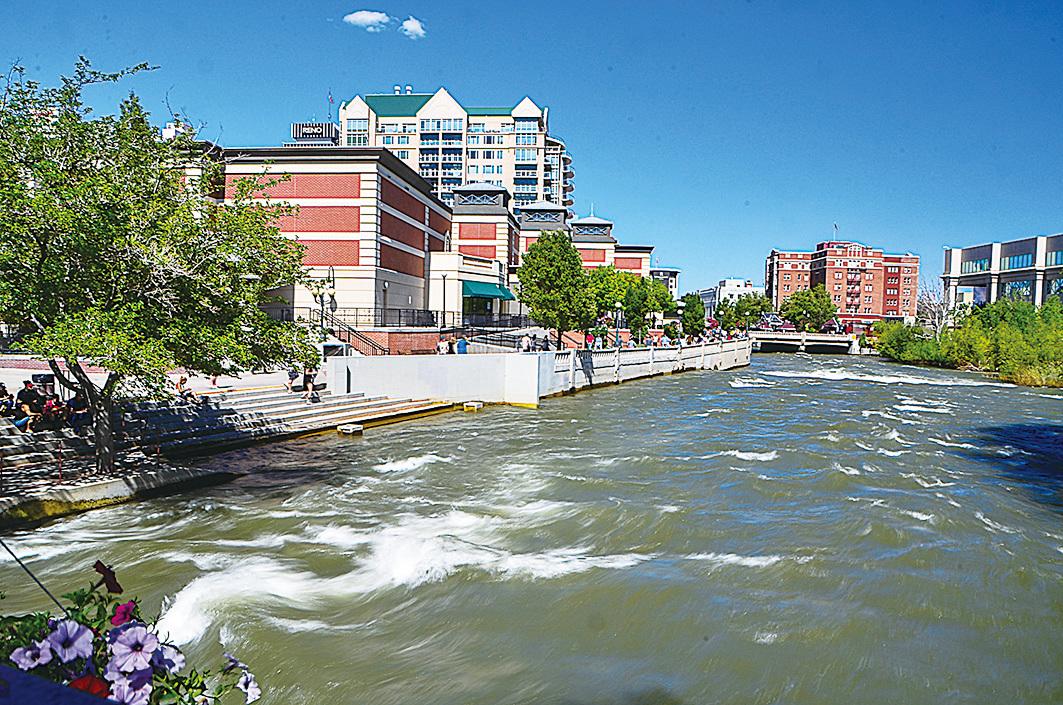 特拉基河成為雷諾的一道都市風景線。(李旭生/大紀元)