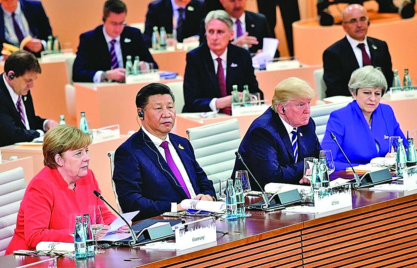 7月7日,中國主席習近平在G20會議上。(Thomas Lohnes/Getty Images)