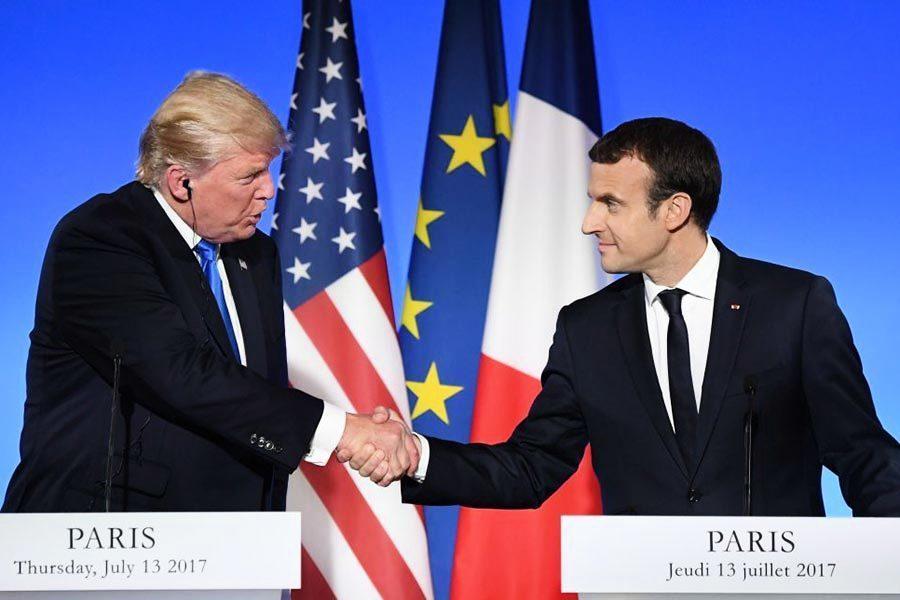 美法總統記者會 談反恐、氣候和中美貿易