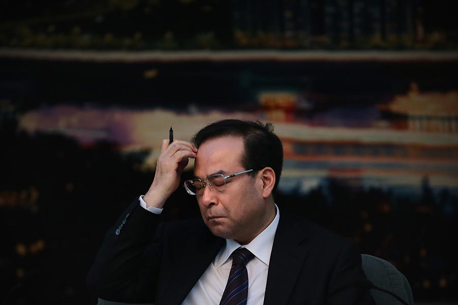 7月15日,孫政才被免去了重慶一把手之職。(Feng Li/Getty Images)