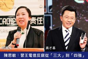 陳思敏:習王電信反腐從「三大」到「四強」