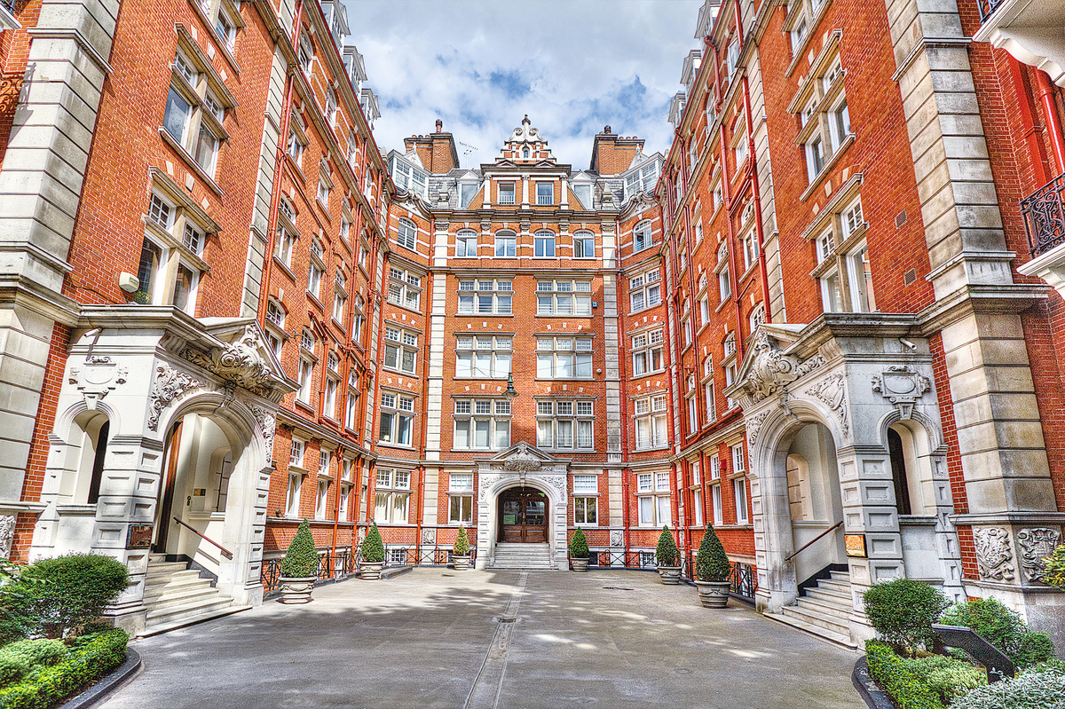 倫敦的富人區之一肯辛頓((Kensington ),有著大量海外買家投資後閒置的房產。(depositephotos)