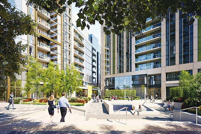 Greystar在金絲雀碼頭的build-to-rent項目Sailmaker (Greystar)