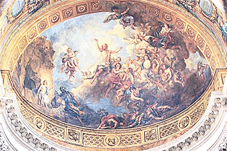 《基督的復活》(La Résurrection du Christ,1710年,凡爾賽宮皇家禮拜堂穹頂壁畫)。(Château de Versailles/Foto JM Manaa)