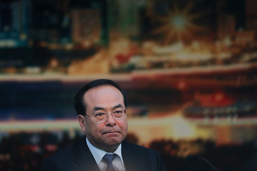2月13日中共官媒通報,天津檢察機關對孫政才提起公訴。(Lintao Zhang/Getty Images)