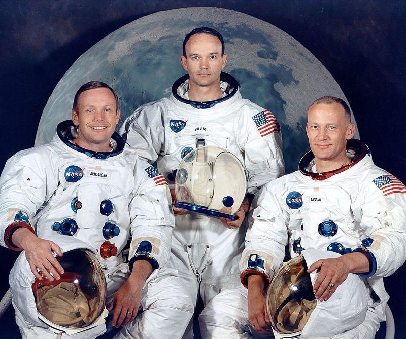 阿波羅11號太空人,左起:阿姆斯特朗、科林斯、奧爾德林。(NASA圖片)