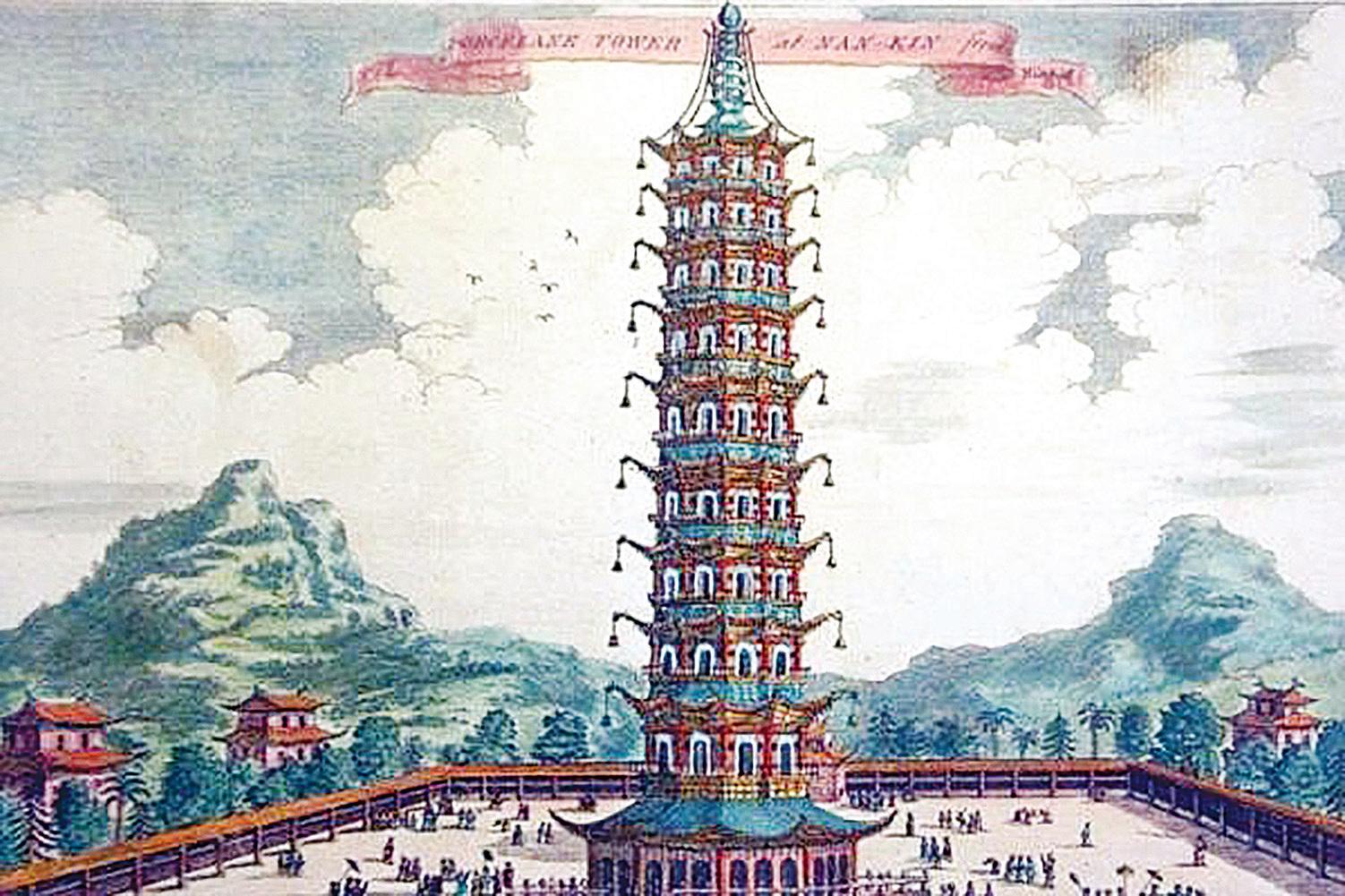 江南第一寺「建初寺」毀於戰亂。明成祖朱棣在其遺址上修建了「大報恩寺」,高達78.2米的琉璃寶塔曠世聞名。