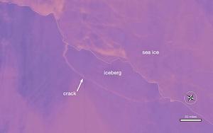 史上最大冰山崩離南極