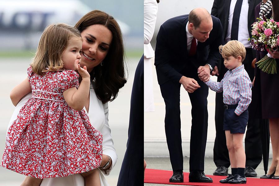 首訪波蘭 夏洛特公主甜笑獲讚 喬治王子鬧脾氣挨訓