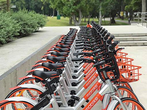Mobike 現已擴展到150多座城市,投放車輛約600萬輛,號稱全球最大的單車共享公司。(網絡圖片)