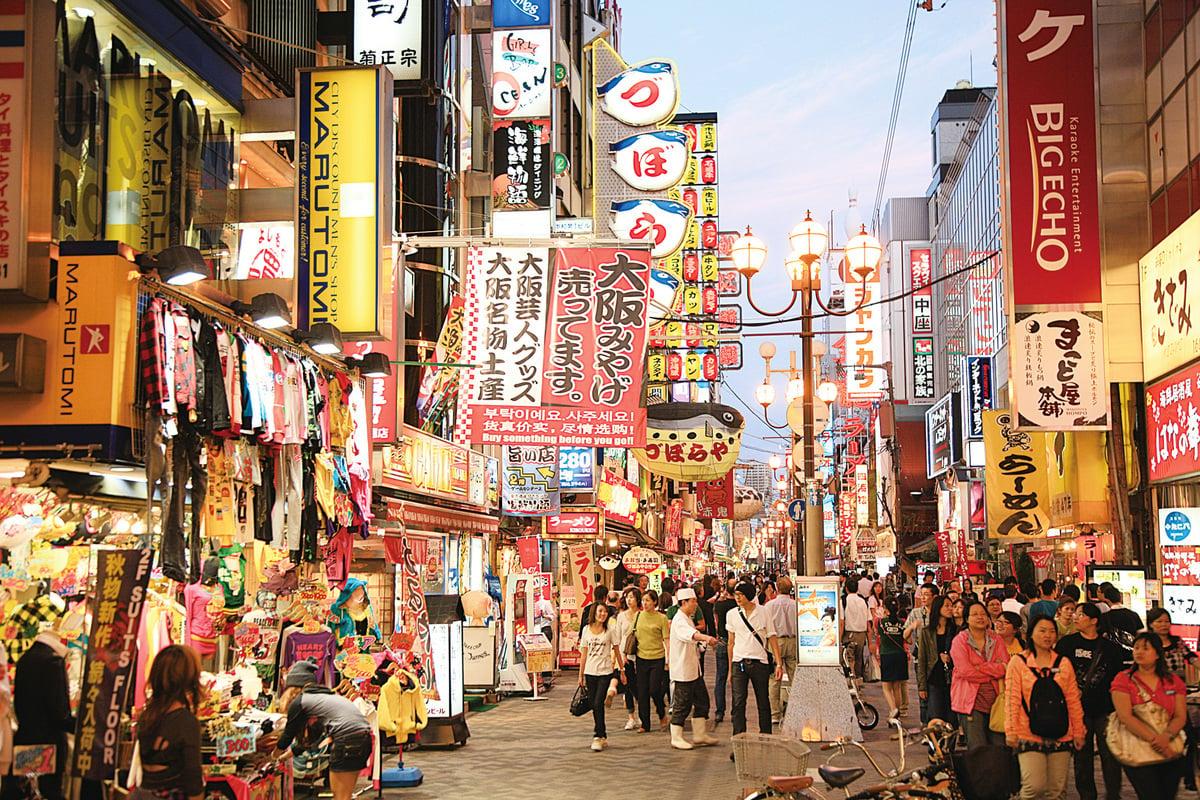 日本大阪著名繁華街道頓堀。(PIXTA)