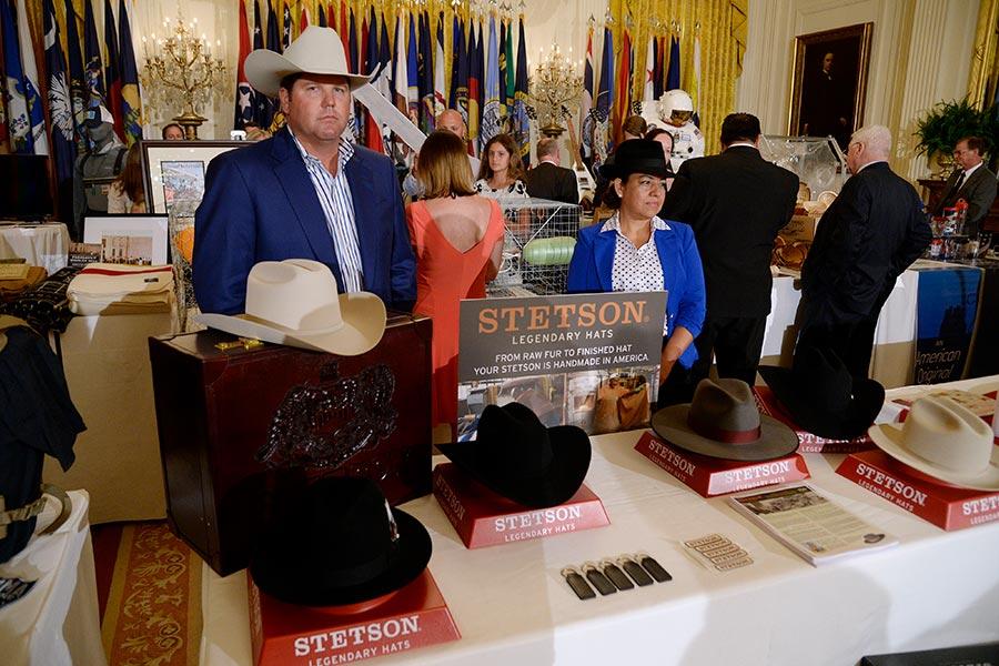 美國部份製造商及產品受邀出席在白宮舉行的美國製造周。(OLIVIER DOULIERY/AFP/Getty Images)