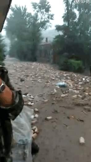 尚志市葦河發大水沖毀大壩,房屋被淹,道路、電力、水均中斷,村民被困。(網絡圖片)