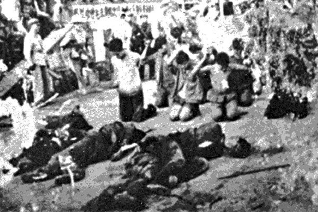 廣西農村文革集體殺人的景象。(網絡圖片)