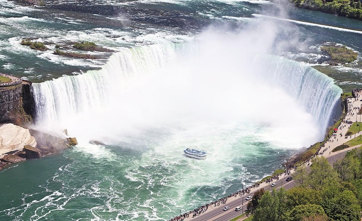 安省的代表美景——尼亞加拉大瀑布。(Fotolia)
