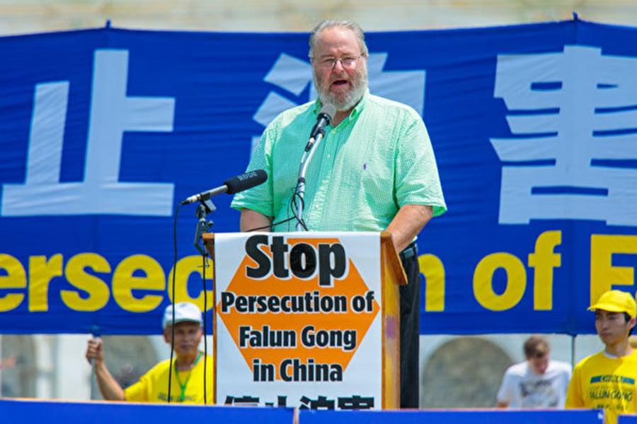 「宗教自由大同盟」總裁丹·菲弗爾曼(Dan Fefferman)。(Mark Zou/大紀元)