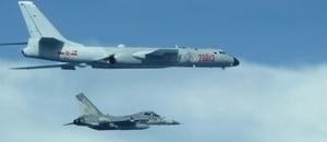中共戰機繞台飛行 台國防部首度曝光照片