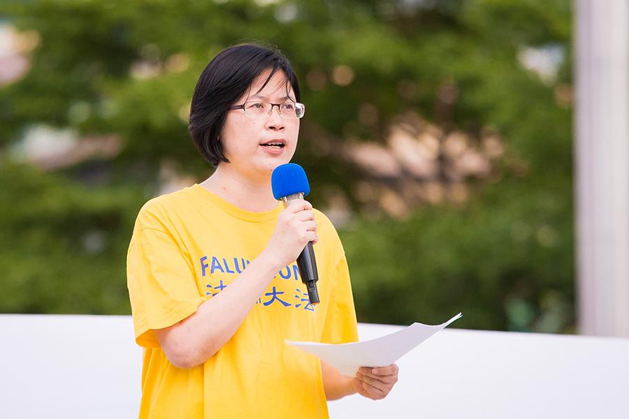 台灣法輪功人權律師團發言人朱婉琪。(大紀元資料室)