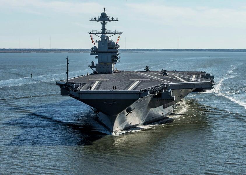 世界最先進航母福特號服役