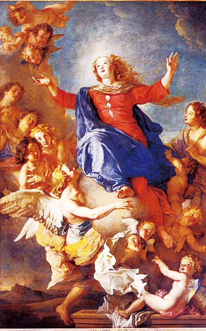 來自南希美術博物館的《聖母昇天圖》(L'Assomption de la Vierge)也是一幅傑作,聖母慈悲神聖的臉龐顯得豐腴而祥和,她張開雙臂優雅地向上飛昇,天使蜂擁而至歌唱讚美聖母,特別凸出的是,畫作中天使的翅膀看來格外潔白細膩。