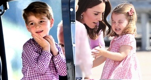 夏洛特公主不想回家 機場鬧脾氣 喬治展紳士範