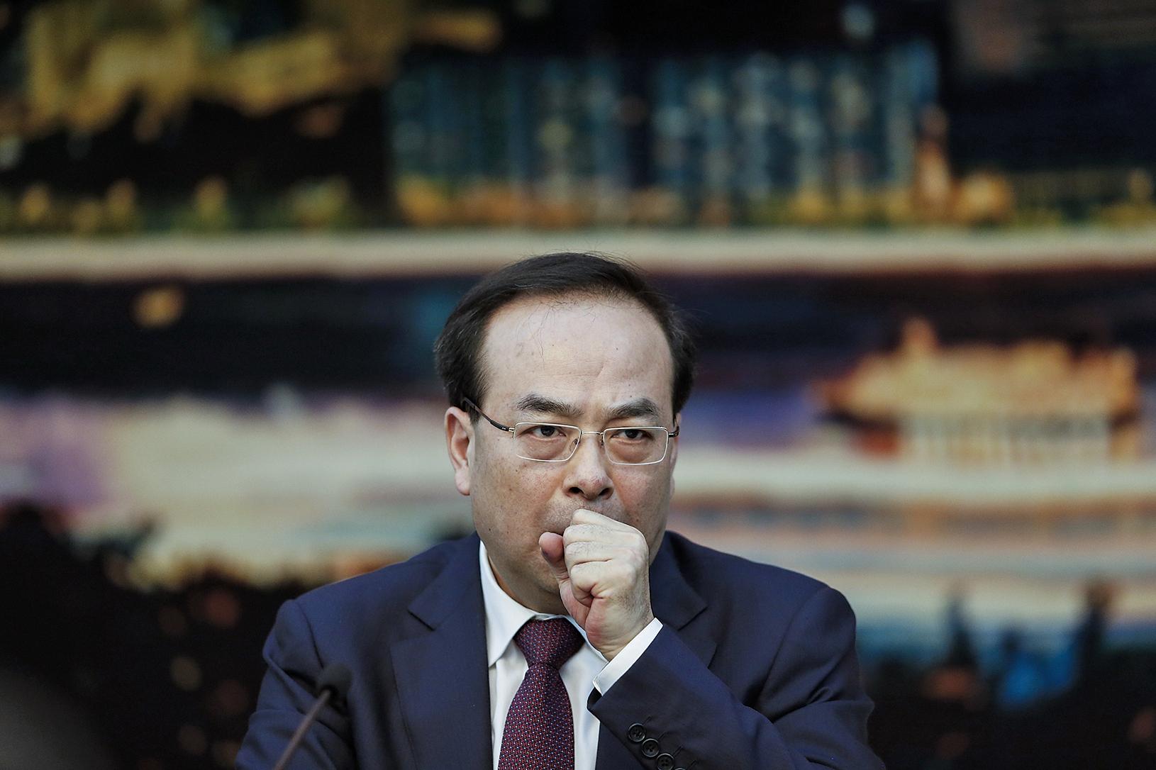 7月24日,中共中央政治局委員、前重慶市委書記孫政才因涉嫌嚴重違紀,被當局立案審查。(Getty Images)