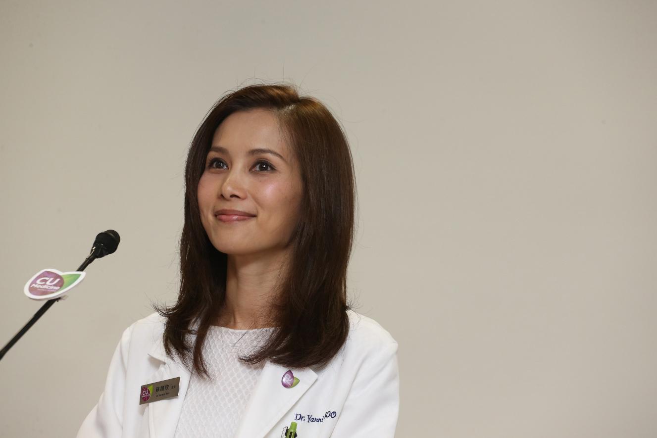 中大醫學院內科及藥物治療學系腦神經科臨床專業顧問蘇藹欣醫生。(中大醫學院提供)