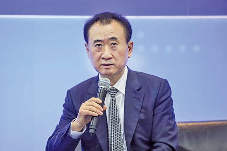 王健林表態「把主要的投資放在國內」。 (余鋼)