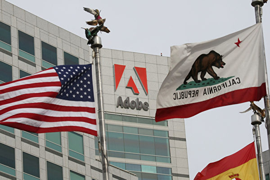 Adobe公司位於美國加州聖何塞的總部大樓。 (Justin Sullivan / Getty Images)
