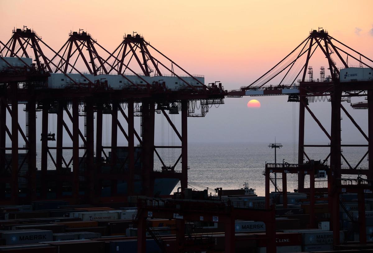 圖為上海自由貿易試驗區。(Getty Images)
