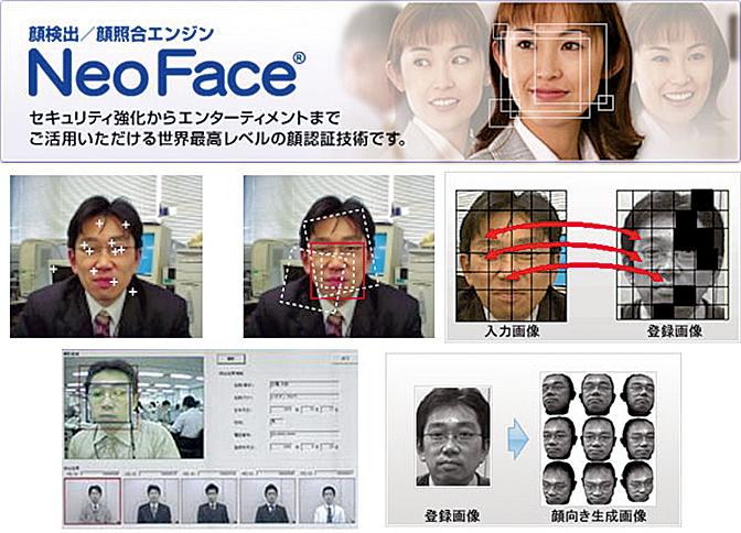 日本NEC公司開發的臉部識別系統——「NeoFace」。(NEC)