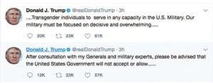 特朗普拒絕變性人參軍
